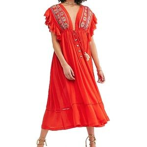Free People   NWT Will Wait For You Midi Dress